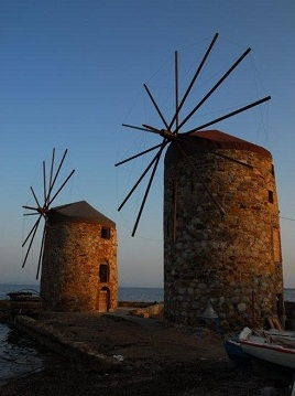 The windmills of Chios